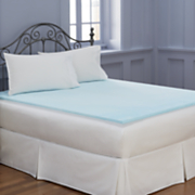 1 inch sleep connection viscose memory foam mattress pad with smooth cooling gel by montgomery ward