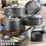 Circulon 10-Piece Genesis Hard Anodized, Nonstick Aluminum Cookware Set