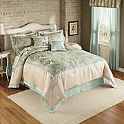 Metropolitan 10-Piece Pieced and Woven Jacquard Bed Set & Window Treatments