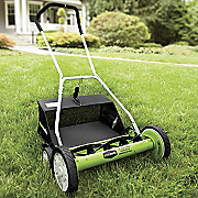 20 inch reel manual mower with clippings bag