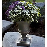 cement solar led urn