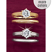 round solitaire bridal set