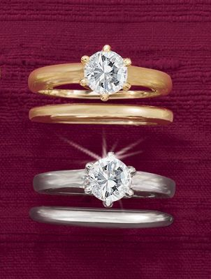 Round/Solitaire Bridal Set