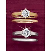 round solitaire bridal set