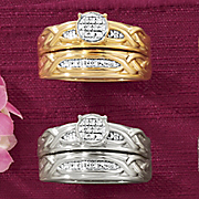 round cluster bridal set