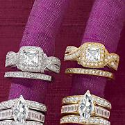 square vintage bridal set