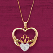 claddagh heart pendant