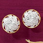 round swirl post earrings