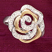 two tone rose ring