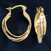Three-Twist Hoop Earrings
