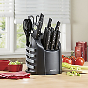 17 pc wave edge cutlery set by farberware
