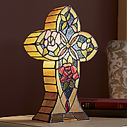 lighted stained glass cross