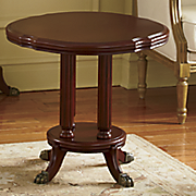 Montgomery Ward Golden Age Clawfoot End Table