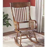 carved classic rocking chair