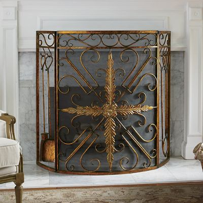 King's Cross Fireplace Screen with Tools