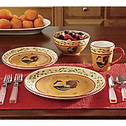 16 pc hand painted american heritage dinnerware set