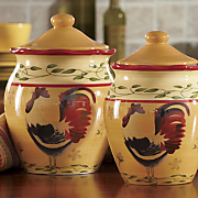 4-Piece Hand-Painted American Heritage Canister Set