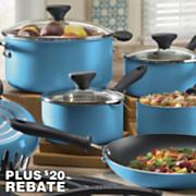 farberware 14 pc bright idea nonstick aluminum cookware set with 20 rebate