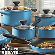 farberware 14 pc bright idea nonstick aluminum cookware set with 20 rebate