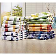 15 pc assorted waffle weave towel set