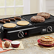 Chef Tested Electric Grill Griddle with Reversible Plates by Montgomery Ward