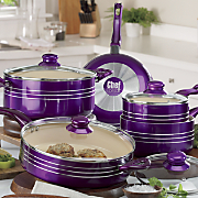chef tested 9 pc metallic cookware set by montgomery ward