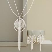 tassel pendant and earring set