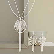 tassel pendant and earring set