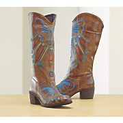 papillon leather boot by spring footwear