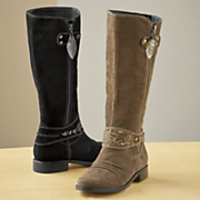 embroidered ankle boot by monroe and main