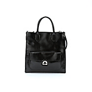 leather turnlock tote