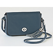 turnlock leather cross body