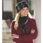 indigo hat and scarf set