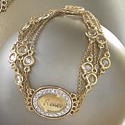 personalized cubic zirconia crystal bracelet