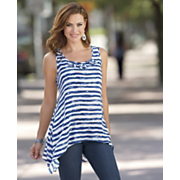 Striped Hanky Hem Tunic