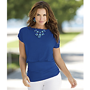 bateau neck ruched top