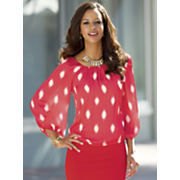 vinny smudge dot blouse