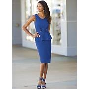 blue waters peplum dress