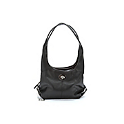 3 section leather handbag