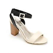 Monroe & Main Ivory Buckle Sandal