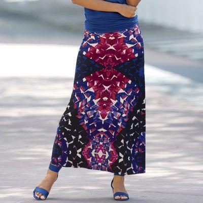 Tumbled Glass Maxi Skirt
