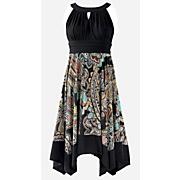 paisley flutter dress