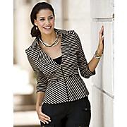 Stripe Away Jacket and Skirt