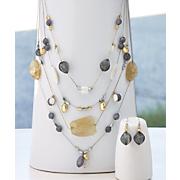 earthtone necklace and earrings