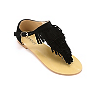 fringed thong sandal by monroe main
