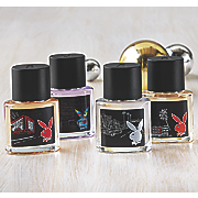 4 pc playboy mini edt spray set by coty