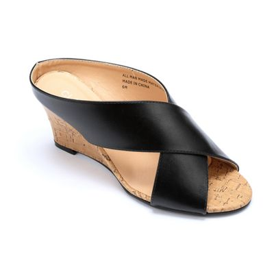 Cork Wedge Slide by Classique