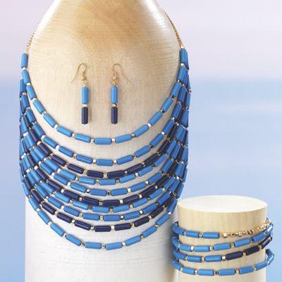 Multistrand Resin Bead Jewelry Set