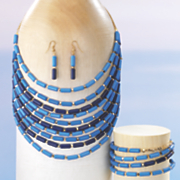 multistrand resin bead jewelry set