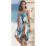 Hi-Lo Print Dress